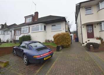 Thumbnail 3 bed semi-detached bungalow to rent in Grants Close, Mill Hill, London