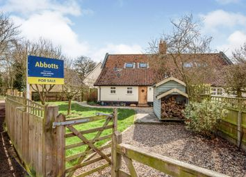 Thumbnail 3 bed semi-detached house for sale in Quidenham, Norfolk