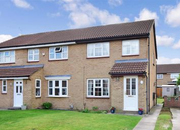 Thumbnail 3 bed semi-detached house for sale in Saunders Close, Northfleet, Gravesend, Kent