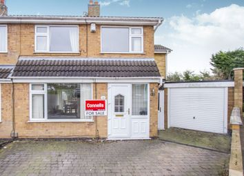 Thumbnail 4 bed semi-detached house for sale in Isis Close, Oadby, Leicester