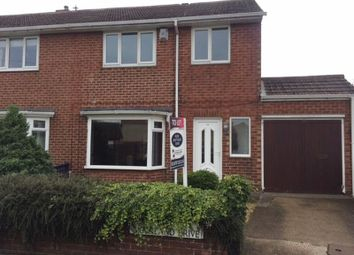 Thumbnail 3 bed semi-detached house to rent in Moorland Drive, Bedlington