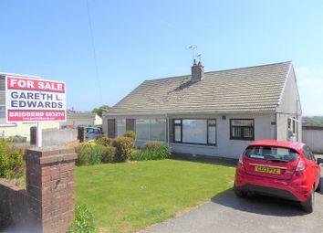 Thumbnail 3 bed semi-detached bungalow for sale in Keats Close, Cefn Glas, Bridgend.