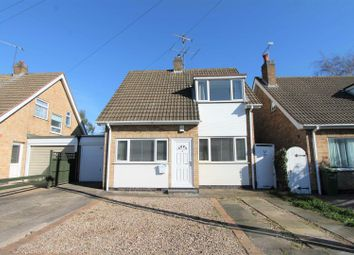 Thumbnail 3 bed detached house for sale in Brooksby Close, Oadby, Leicester