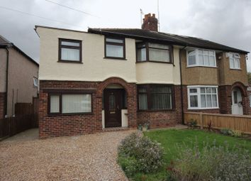 Thumbnail 4 bed semi-detached house for sale in Saughall Massie Lane, Upton, Wirral
