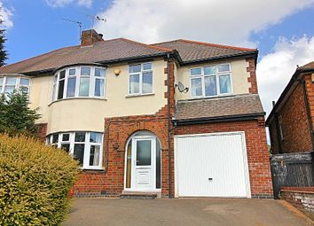 Thumbnail 5 bed semi-detached house for sale in Harborough Road, Oadby, Leicester