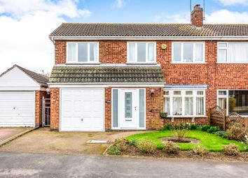 Thumbnail 4 bed semi-detached house for sale in Long Furrow, East Goscote, Leicester