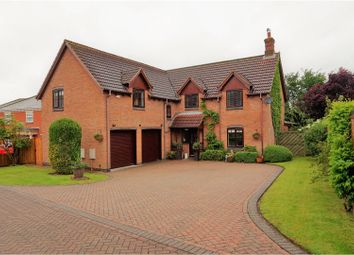 Thumbnail 4 bed detached house for sale in Hall Gardens, Ravenstone