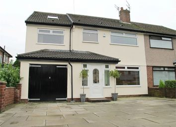 Thumbnail 5 bed semi-detached house for sale in Bancroft Close, Woolton, Liverpool, Merseyside