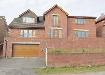 Thumbnail 4 bed detached house for sale in Springfield Rise, Treharris
