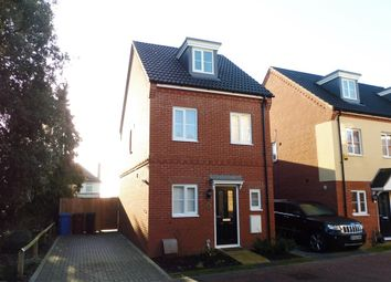 Thumbnail 3 bed link-detached house for sale in Malkin Close, Ipswich
