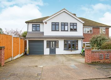Thumbnail 4 bedroom semi-detached house for sale in Pettits Close, Romford