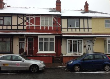 Thumbnail 3 bed terraced house to rent in Leyton Road, Handsworth