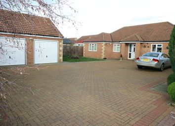 Thumbnail 3 bed detached bungalow for sale in The Rides, Langtoft, Market Deeping, Cambridgeshire