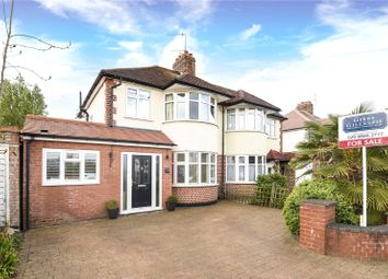 Thumbnail 4 bed semi-detached house for sale in Lulworth Drive, Pinner, Middlesex