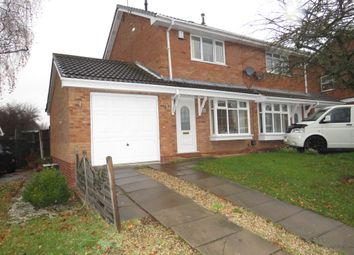 Thumbnail 2 bed semi-detached house for sale in Larkspur Drive, Featherstone, Wolverhampton