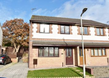 Thumbnail 3 bed semi-detached house for sale in Hazel Mead, Brynmenyn, Bridgend.