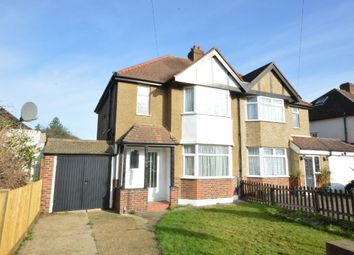 Thumbnail 3 bed semi-detached house to rent in Somerset Avenue, Chessington, Surrey