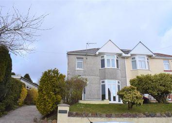 Thumbnail 3 bed semi-detached house for sale in Llwynmawr Road, Sketty, Swansea