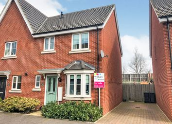 3 bed semi-detached house for sale in Cygnet Road, Stowmarket IP14