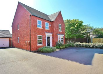 Thumbnail 4 bed detached house for sale in Loddington Close, Syston, Leicestershire