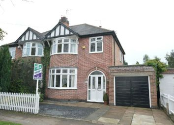Thumbnail 3 bed semi-detached house for sale in West View Avenue, Glen Parva, Leicester