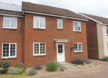 Thumbnail 4 bed semi-detached house for sale in Abbey Road, Wymondham