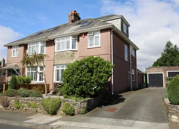 Thumbnail 4 bedroom semi-detached house for sale in Tor Crescent, Plymouth