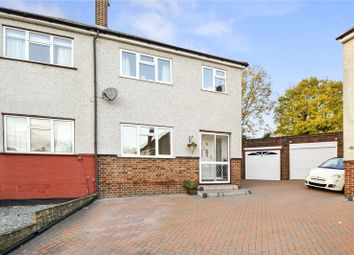 Thumbnail 4 bed semi-detached house for sale in Homefield Close, Swanley, Kent