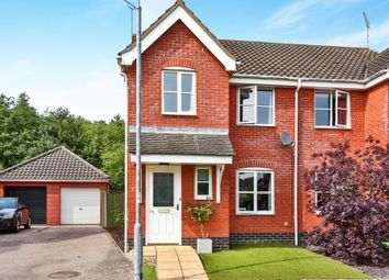 Thumbnail 3 bed semi-detached house for sale in Canfor Road, Rackheath, Norwich