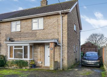 Thumbnail 3 bed semi-detached house for sale in Swathing, Thetford