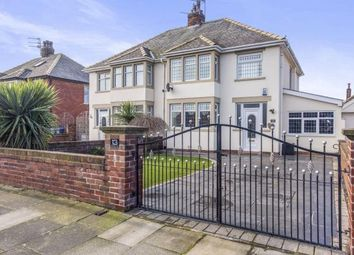 Thumbnail 3 bed semi-detached house for sale in Raleigh Avenue, Blackpool, Lancashire