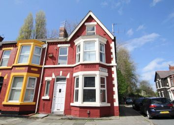 Thumbnail 4 bed end terrace house to rent in Sunbourne Road, Aigburth, Liverpool