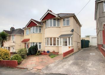Thumbnail 3 bed semi-detached house for sale in Manor Road, Plymstock, Plymouth