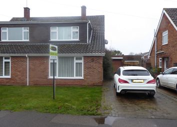 Thumbnail 3 bed semi-detached house for sale in Red House Lane, Leiston