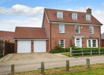 Thumbnail 5 bed detached house for sale in Meadows Drive, Mulbarton, Norwich