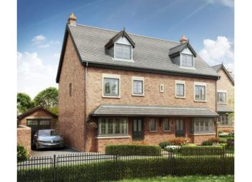 Thumbnail 4 bed semi-detached house for sale in The Hawthorns The Village, Newcastle