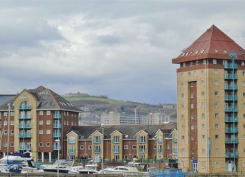 Thumbnail 2 bed flat for sale in Pocketts Wharf, Marina, Swansea