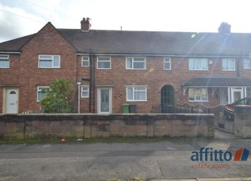 Thumbnail 4 bedroom terraced house to rent in Hughes Road, Wednesbury