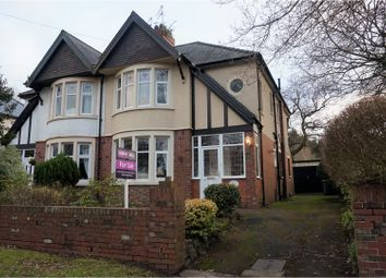 Thumbnail 3 bed semi-detached house for sale in Werngoch Road, Cyncoed
