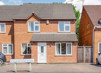Thumbnail 4 bed semi-detached house for sale in Scalborough Close, Countesthorpe, Leicester