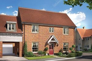 Thumbnail 4 bedroom link-detached house for sale in The Gurney, Cromer Road, Holt, Norfolk