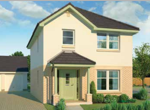 Thumbnail 3 bedroom detached house for sale in The Harper, Calder Street, Coatbridge, North Lanarkshire