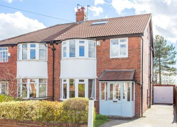 Thumbnail 4 bed semi-detached house for sale in Gledhow Park Avenue, Leeds, West Yorkshire