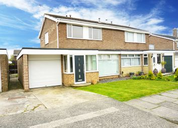 Thumbnail 3 bed semi-detached house for sale in Morpeth Drive, Sunderland