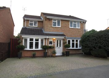 Thumbnail 4 bed detached house for sale in Grosvenor Close, Glen Parva, Leicester