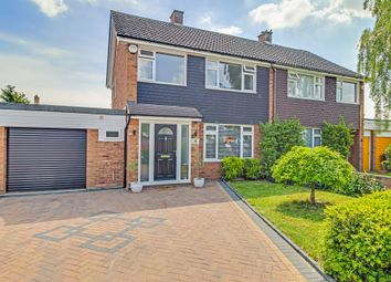 Thumbnail 3 bed semi-detached house for sale in Saxon Avenue, Stotfold, Hitchin, Herts