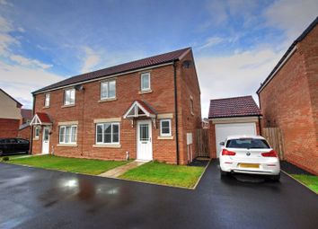 Thumbnail 3 bed semi-detached house for sale in Redwing Close, Wideopen, Newcastle Upon Tyne