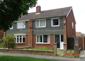 Thumbnail 3 bedroom semi-detached house to rent in Booth Way, Little Paxton, St. Neots
