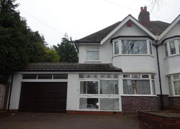 Thumbnail 3 bed semi-detached house to rent in Lakey Lane, Solihull