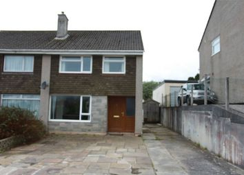 Thumbnail 3 bed semi-detached house to rent in Meadow Drive, Par, Cornwall